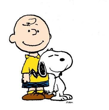 Charlie Brown and his dog snoopy