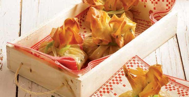 Πιτάκια με κατσικίσιο τυρί & προσούτο Ευρυτανίας | Χρυσή Ζύμη