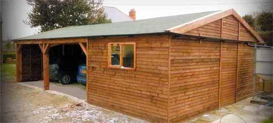 1000 ideas about timber frame garage on pinterest for Garage con veranda