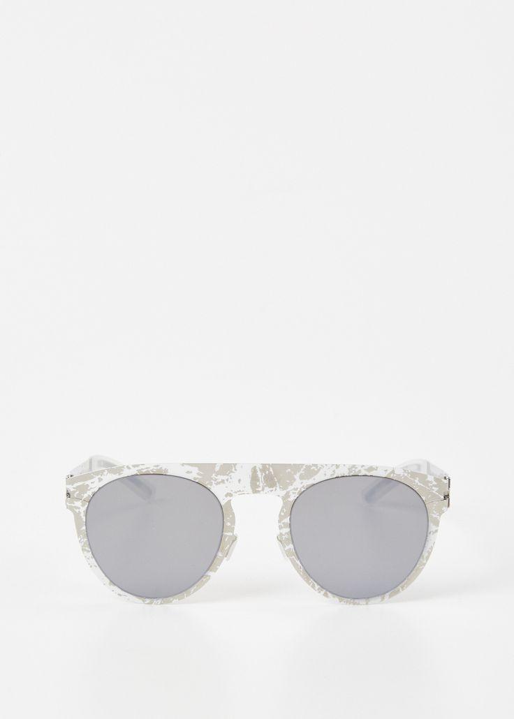 Maison Margiela Mykita X Margiela Transfer Sunglasses (Stainless Steel / Stone).