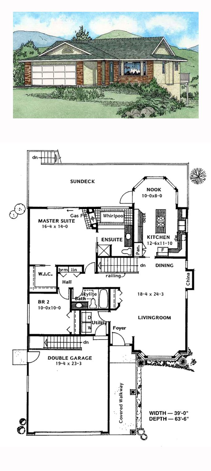 Ranch southwest house plan 90987 house plans bedrooms for Southwest home floor plans