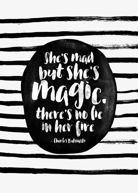 She's mad but she's magic Art Print