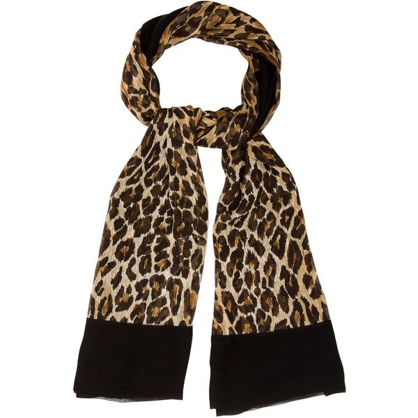 Pre-owned Dolce & Gabbana Leopard Print Scarf ($70) ❤ liked on Polyvore featuring accessories, scarves, animal print, patterned scarves, print scarves, leopard shawl, brown shawl and brown scarves