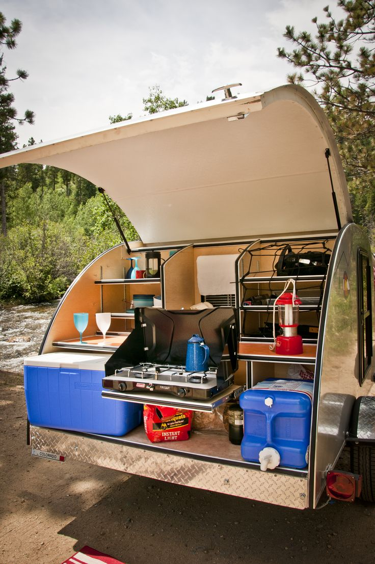 how to build a camper trailer kitchen