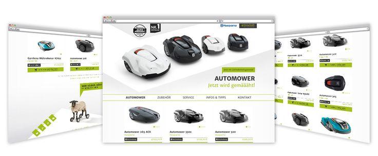 Webshop-Landingpage   Kunde: grün schnitt – Forst- & Gartentechnik, Wolfsburg-Unkeroda, Thüringen   Branche: Einzelhandel   http://www.automower-rasenroboter.de