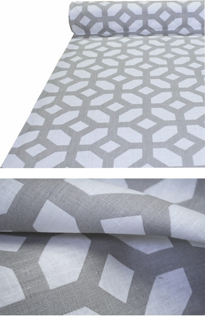 "Gray Linen Geometric Fabric ""Courtyard, Oyster"": Dining Rooms Chairs, Oysters Tonicliv Com, Oysters 100, Dining Chairs, Geometric Fabrics, Courtyards Oyst, Linens Geometric, Fabrics Stores, Fabrics Courtyards"