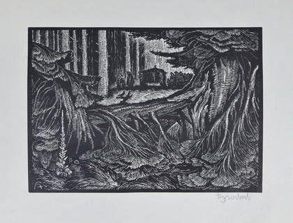 Arnošt Hrabal 20,5 x 29 cm  dřevoryt   1.500,