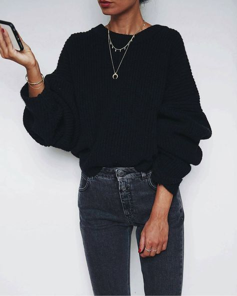 sweater and jeans