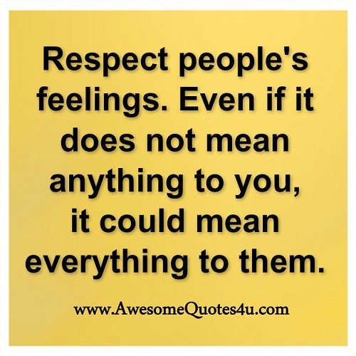 what respect means to me