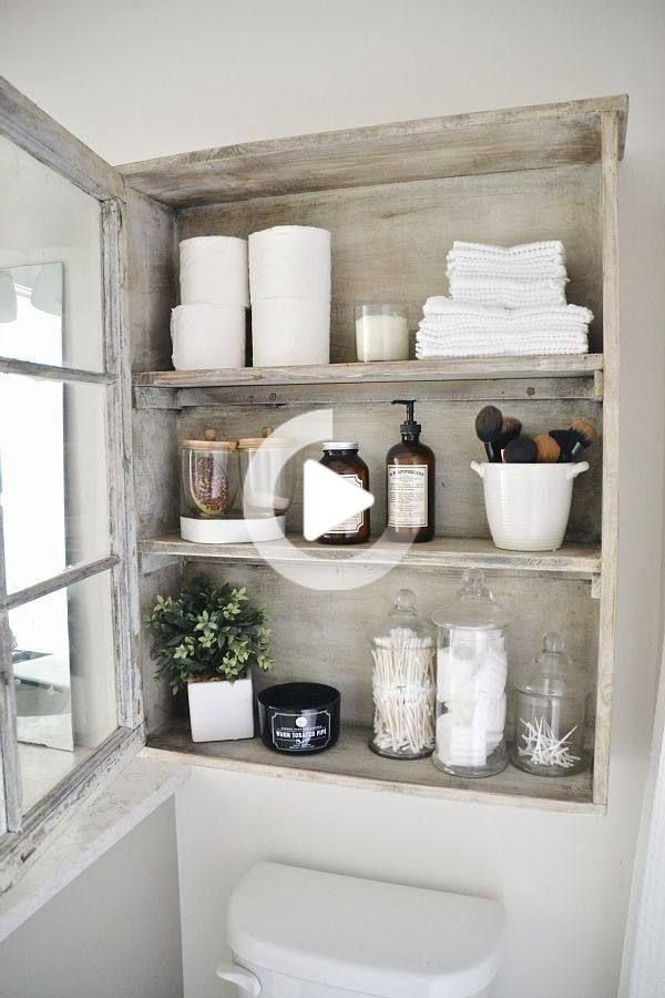 Badezimmer Deko Netz In 2020 Bathroom Cabinets Diy Bathroom Shelves Shabby Chic Bathroom