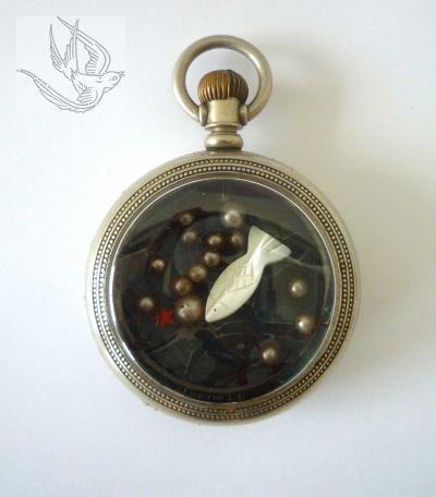 OBJECT (1944)  Joseph Cornell    Pocket-watch assemblage