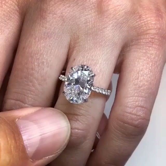 5ct Oval Diamond In Gorgeous Setting Engagement Ring By Chase Geissel Diamond Jewelry Blog Jewelry