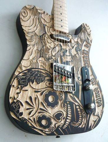 I feel like I really need an artsy guitar like this :)