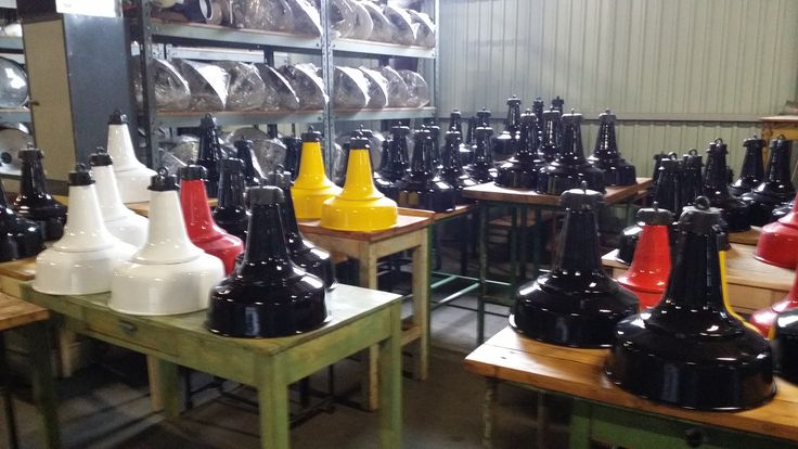Industrial lamps in colors
