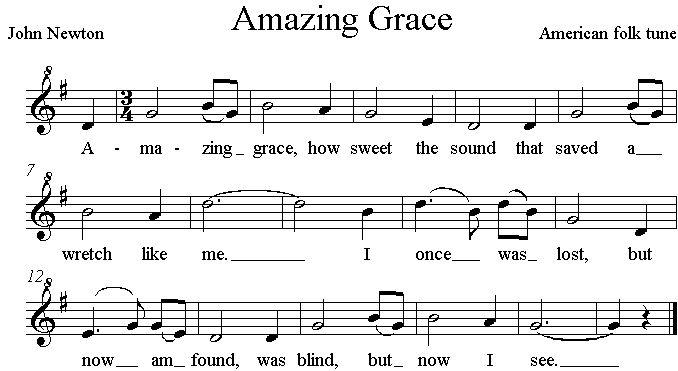 the creative writing amazing grace