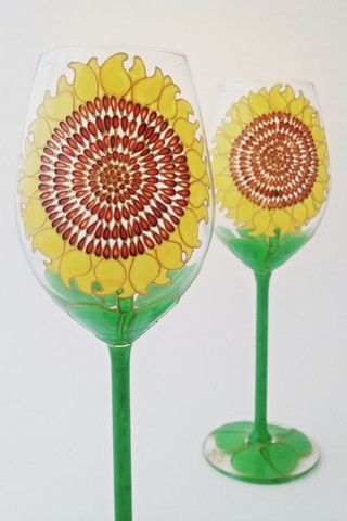 Toasted Glass - Sunflower Wine Glasses