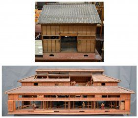 19th Century Japanese Silk Factory Model