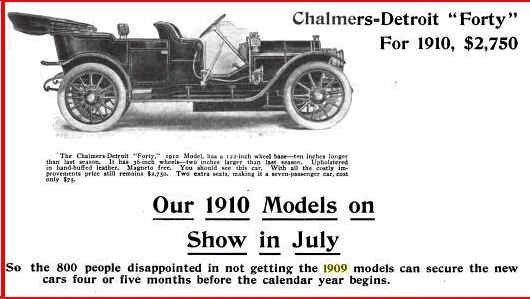 1910 Chalmers-Detroit Advertisement