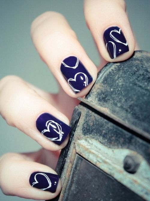 17 Valentines Day Nail Ideas | See more nail designs at http://www.nailsss.com/french-nails/2/