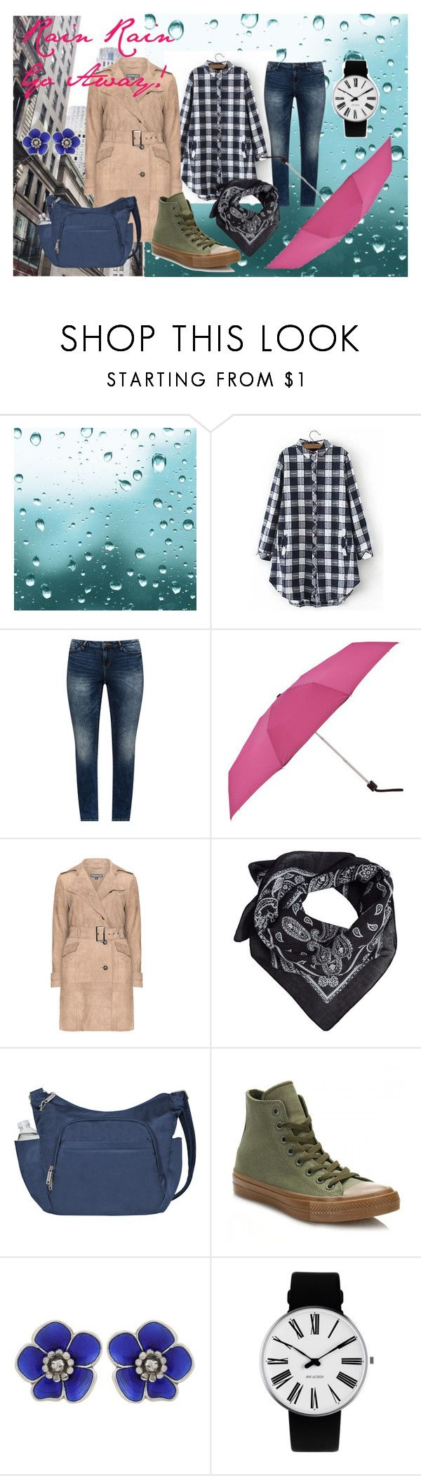 """Rainy outfit for today :)"" by izostworekblogspot on Polyvore featuring moda, JunaRose, MANGO, Travelon, Converse, Bottega Veneta i Rosendahl"