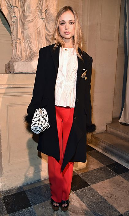 Once named Tatler's most beautiful royal, Lady Amelia Windsor made an appearance at the Sonia Rykiel.