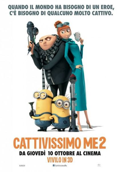 Locandina italiana Cattivissimo Me 2