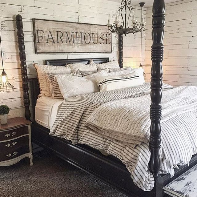 I'm playing along with @klotzhome and her hashtag #SundayHomeInspo and sharing this beautiful bedroom from laura horton Her whole home is amazing!! This is definitely an inspiration for me. The walls, the bed, the sign, the lights!!! Everything about this master bedroom is cozy and gorgeous! ❤️❤️
