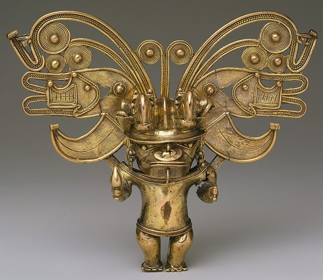 Figure Pendant, 10th–16th century  Colombia; Tairona  Cast gold
