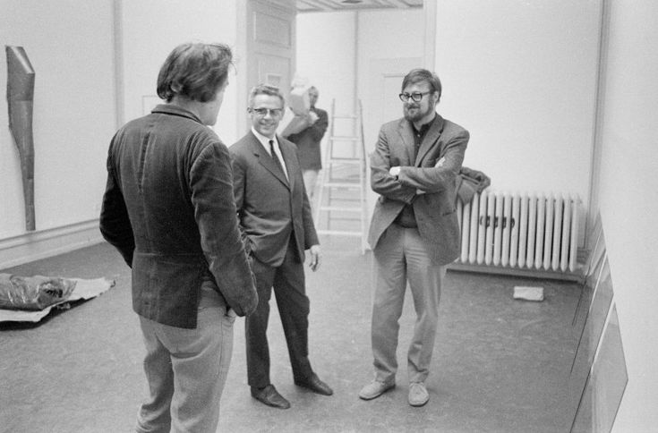 When attitudes became form, 1968, Kunsthalle Bern. Mario Merz, Jean-Marie Theubet and Harald Szeemann