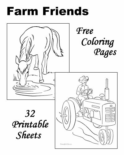 these free printable farm coloring sheets of farm pictures are fun for kids