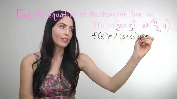 how to find a tangent in a derivatice