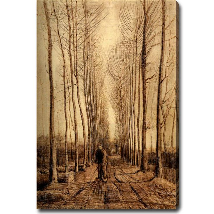 Vincent Van Gogh 'Avenue of Poplars' Oil on Canvas Art   Overstock.com Shopping - The Best Deals on Canvas