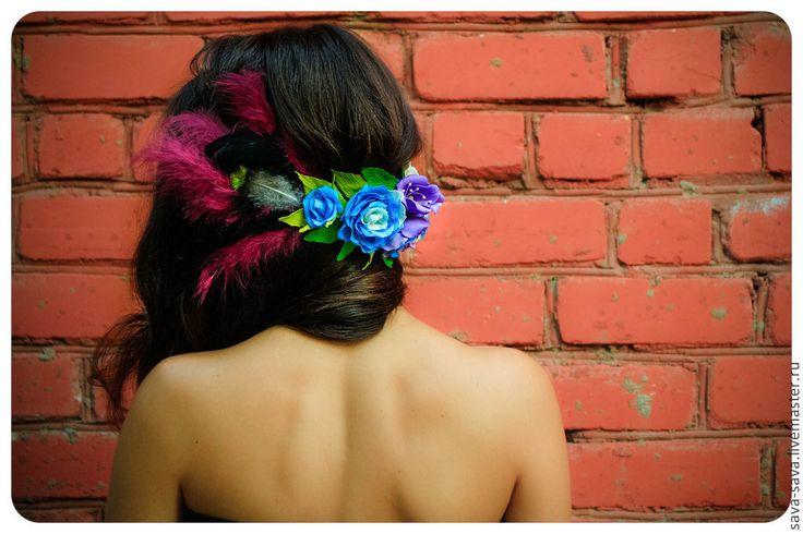 flower girl foam craft wedding blue