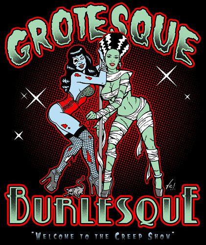 Grotesque Burlesque Tee Rockabilly psychobilly Horror