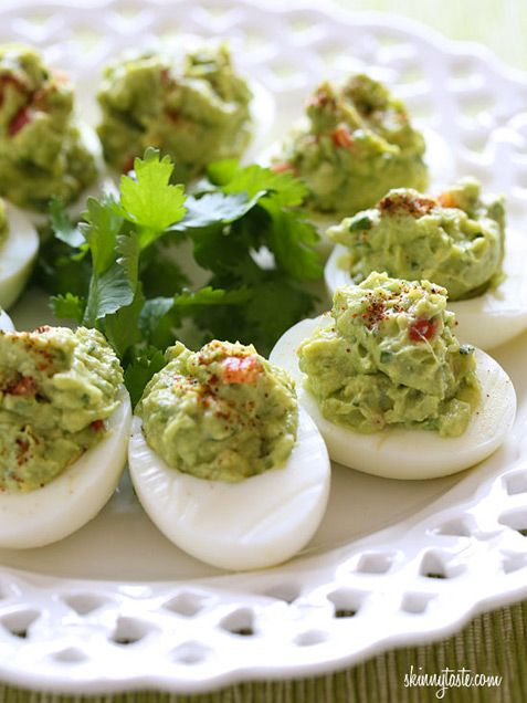 Guacamole Deviled Eggs http://www.ivillage.com/most-crazy-delicious-food-mash-ups/3-a-555809?cid=tw|1-12-14