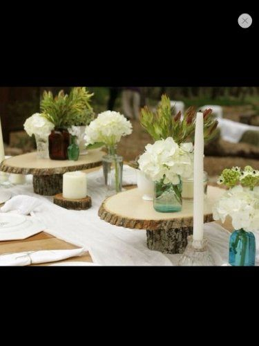 15 Rustic Wedding Stand Centerpiece Wood Slice Tree Natural Large Log null http://www.amazon.com/dp/B00HCZ8QDO/ref=cm_sw_r_pi_dp_bqy1tb0W4Y834VS7