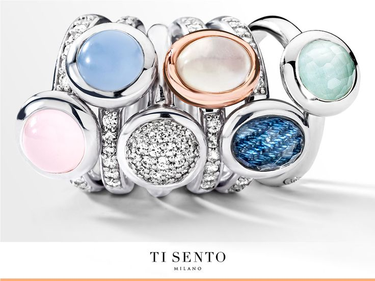 Softness & Playfulness - Pastel colours are thé trend for this season. Mix a fashion colour to your existing ring combination and make it on trend.