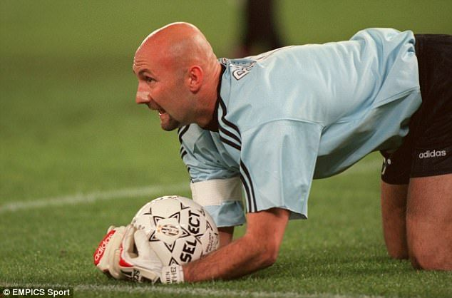 Monaco's goalkeeper at the time was Fabien Barthez, later of Manchester United