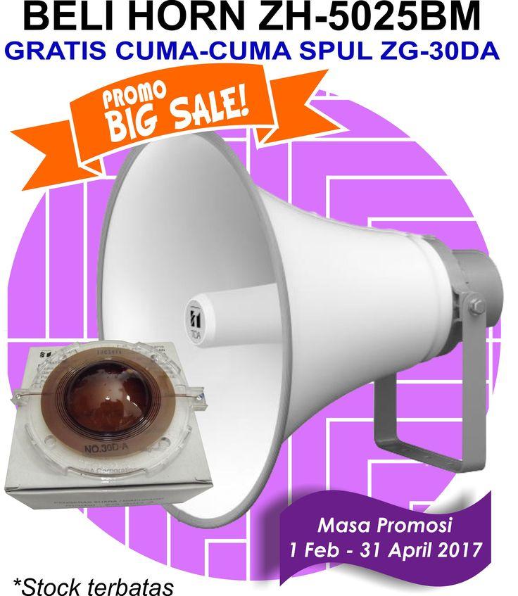BIG PROMO BULAN INI !!!!!!!  DAPATKAN 1 buah ZG-30DA SETIAP pembelian Horn Speaker tipe ZH-5025BM di Rumah Desain Speaker. Dapatkan hanya dengan harga Rp 525.000  Jangan sampai kehabisan.....!!! Promo berlaku sampai 31 april 2017.  Minat? Call/WA 0821-1007-4404, 0877-8465-1181  Untuk cek produk lainnya www.rumah-desain-speaker.com  Terima kasih.  #TOA #SoundSystem #PublicAddressSystem #PagingSystem #ConferenceSystem #CCTV #Amplifier #Speaker #CorongSpeaker #HornSpeaker #SpeakerMasjid…