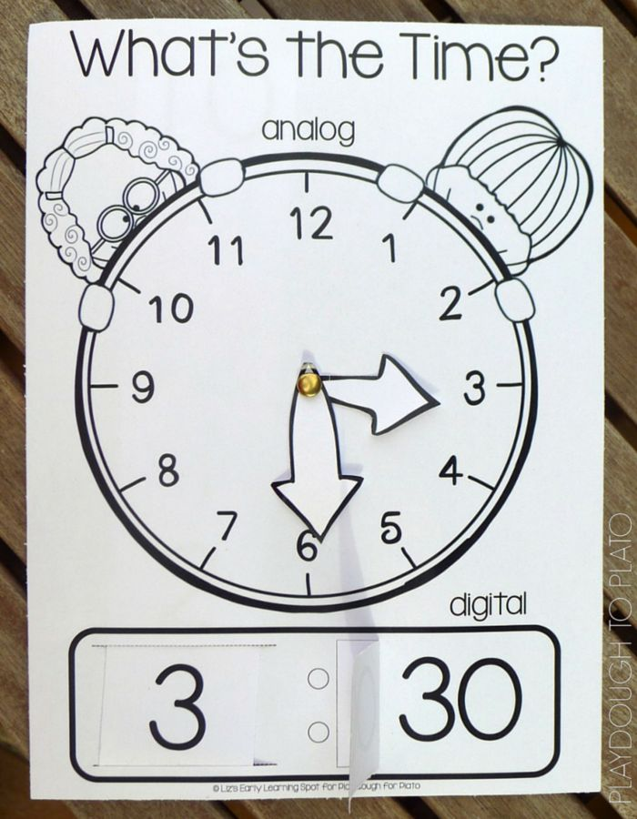 Use this FREE printable to help your child or students tell time!
