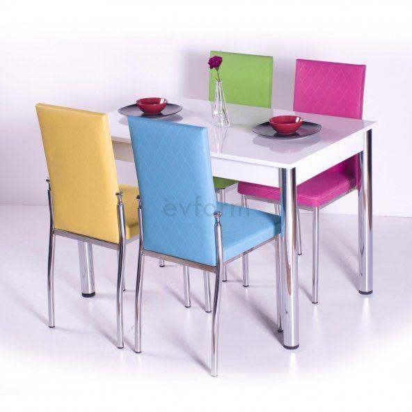 gokkusagi mutfak masasi yemek takimi masa takimi sandalye 10 renk yemek takimi mutfak sandalye