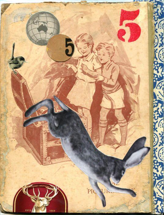 """Run Rabbit, Run"" by Robyn Dansie. Paintings for Sale. Bluethumb - Online Art Gallery"