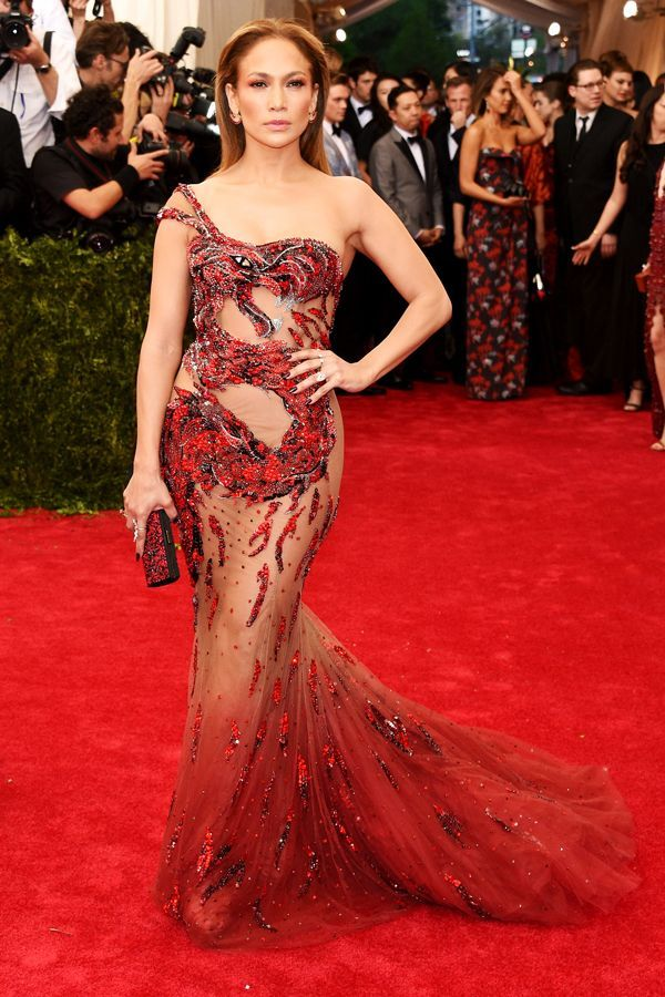 There are two constants in life: Firstly, J. Lo will choose to wear Versace to a major red carpet event. And, secondly, she will continue to push the limits of simultaneously showing skin and remaining covered. Tonight, she didn't disappoint on either count.For A Similar Style Try: