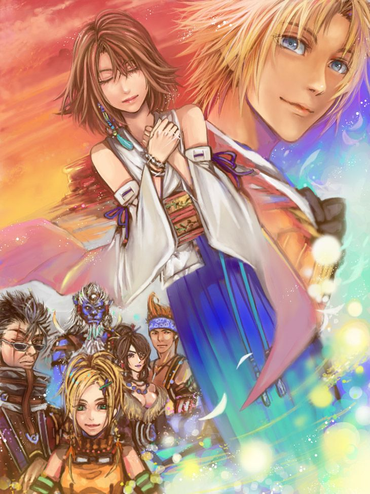 Hands Together (p.1) by NICOpeach - Final Fantasy X/2 - http://www.pixiv.net/member.php?id=1867489