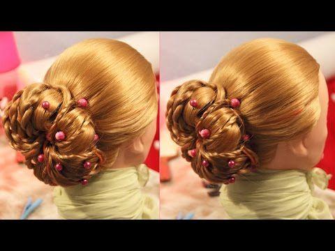 Причёска из валиков - YouTube