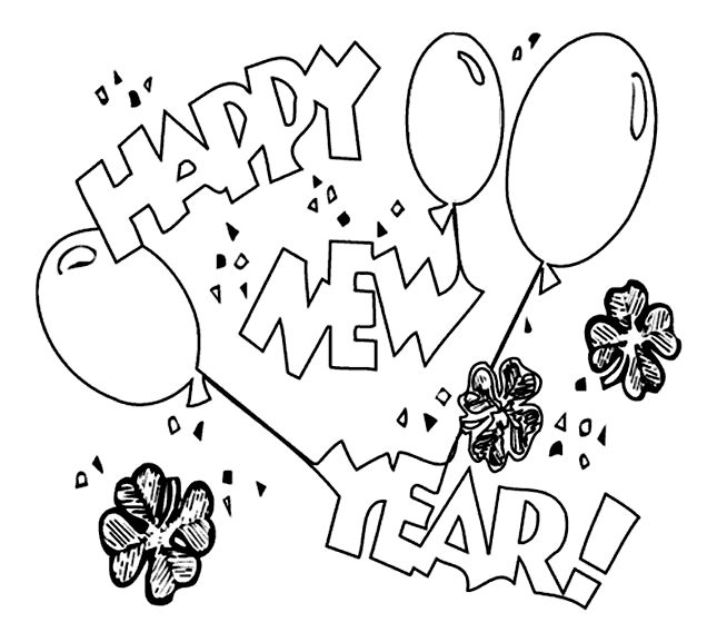 The 25+ best New year coloring pages ideas on Pinterest | New ...