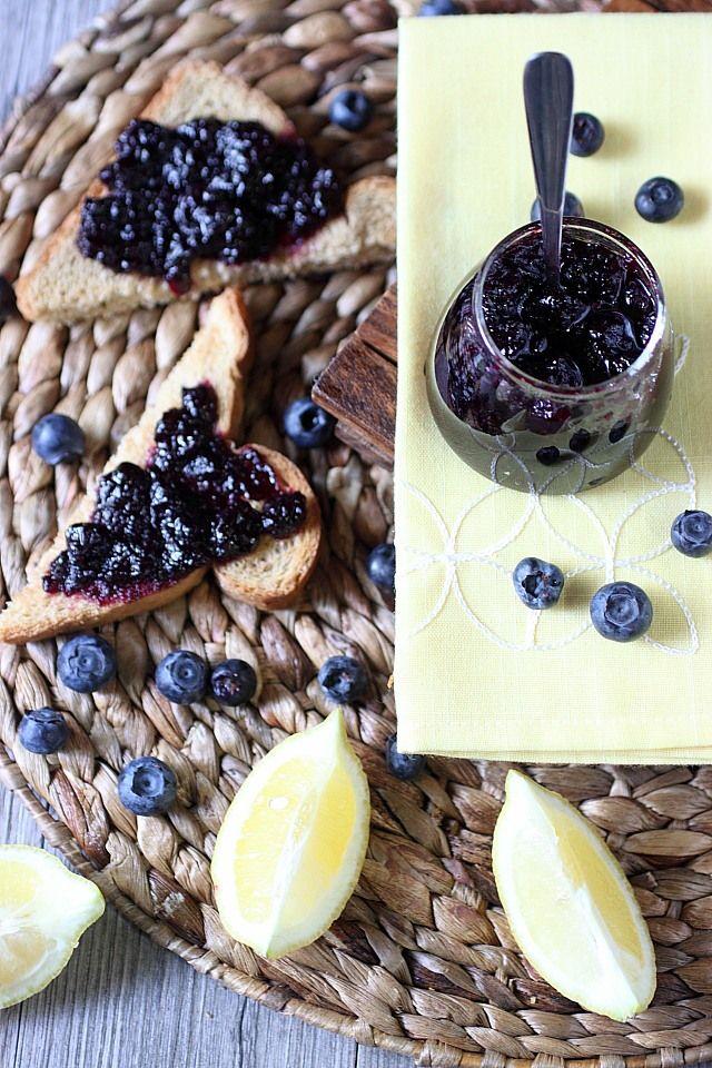 Blueberry Lemon Refrigerator Jam {mind-over-batter.com}