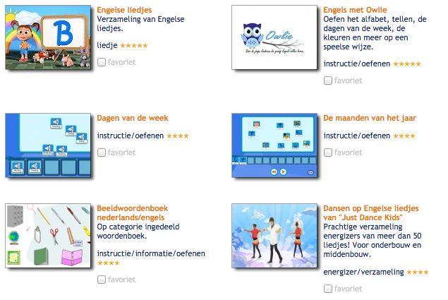 Overzicht alle tools Engels op Kleuterportaal