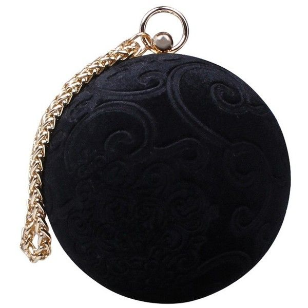 Carvela Guide Circular Clutch Bag (2 415 UAH) ❤ liked on Polyvore featuring bags, handbags, clutches, velvet clutches, hand bags, evening handbags clutches, blue handbags and velvet purse