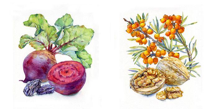 Акварельные иллюстрации художника из Екатеринбурга.